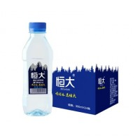 恒大    苏打水原味弱碱性纯净矿泉饮用水360ml*24瓶