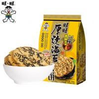旺旺    旺旺厚烧海苔168g*4包米饼饼干
