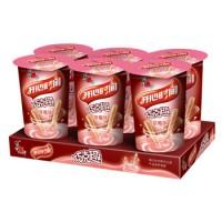 喜之郎 开心时间 巧克趣 草莓味 25g*6杯托