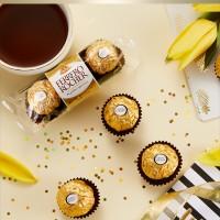 费列罗(Ferrero Rocher)榛果威化糖果巧克力 婚庆喜糖零食 520 情人节表白礼物 48粒礼盒装600g