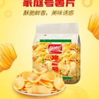 盼盼 家庭号薯片原味 休闲膨化小吃零食大礼包 100g*10 厂家直送